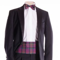 Traditional Tartan Cummerbund and Bow Tie in Modern MacDonald
