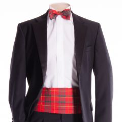 Traditional Tartan Cummerbund and Bow Tie in Cameron tartan