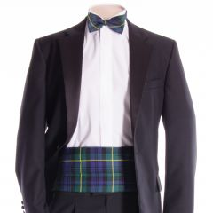 Traditional Tartan Cummerbund and Bow Tie in Gordon Modern