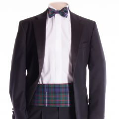 Traditional Tartan Cummerbund and Bow Tie Modern Hunting Robertson