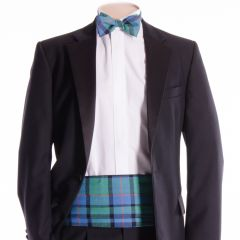 Traditional Tartan Cummerbund and Bow Tie in Flower of Scotland
