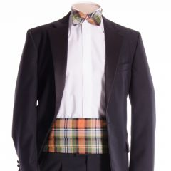 Traditional Tartan Cummerbund and Bow Tie in Dundee District