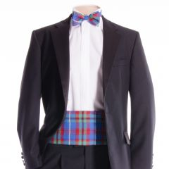 Traditional Tartan Cummerbund and Bow Tie in Edinburgh District