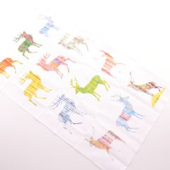 Multi Stag Tea Towel
