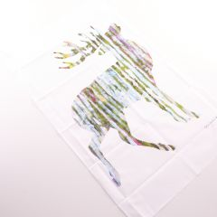 Large Neutral Stag Tea Towel