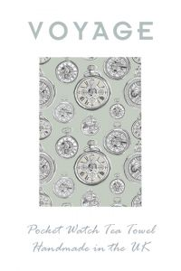 Pocket Watch Design Tea Towel by Voyage Maison