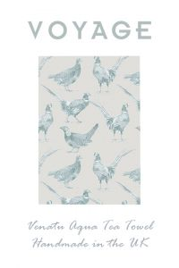 Aqua Venatu Design Tea Towel by Voyage Maison