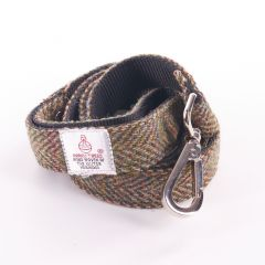 Country Green Dog Lead in Stunning Harris Tweed Fabric