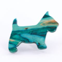 Heathergem Scottie Dog Brooch