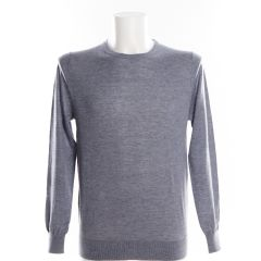 Grey Crew Neck Jumper by Olymp