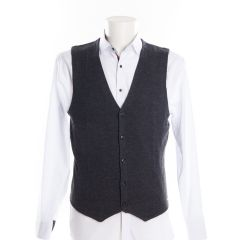 Anthracite V-Neck Waistcoat by Olymp