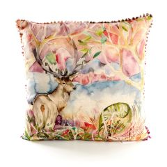 Wandering Stag Cushion by Voyage Maison