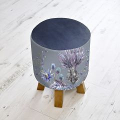 Elysium Sapphire Monty Footstool by Voyage Maison