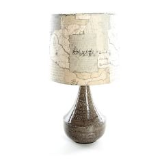 Agri Grey Table Lamp with Explorer Shade by Voyage Maison