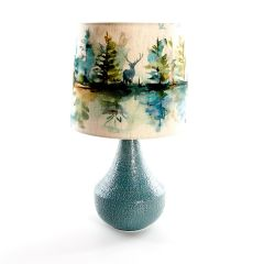 Agri Teal Table Lamp with Wilderness Topaz Shade by Voyage Maison