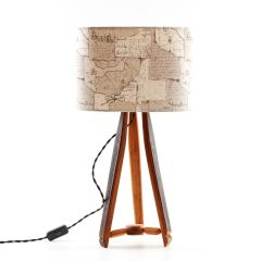 Vintage Oak Whisky Barrel Table Lamp by Darach