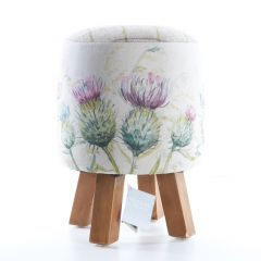 Monty Footstool With A Thistle Glen Design By Voyage Maison