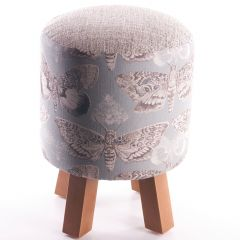 Monty Nocturnal Duck Egg Foot Stool by Voyage Maison