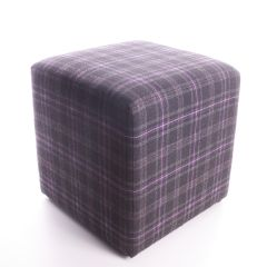 Hebridean Thistle  Cube Foot Stool