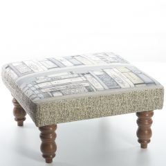 Library, Kastra Foot Stool by Voyage Maison