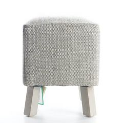 Charcoal, Toby Foot Stool by Voyage Maison
