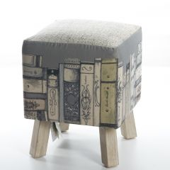 Library Books, Toby Foot Stool by Voyage Maison