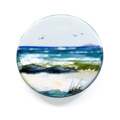 Small Round Seascape Stand by Highland Stoneware