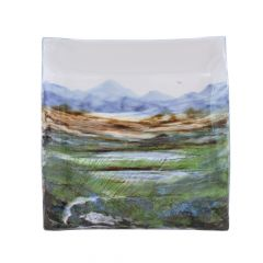 Landscape,  XL Square Dish by Highland Stoneware