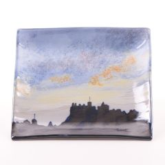 Edinburgh Skyline, Square Medium Dish by Highland Stoneware