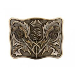 Brass Antique, Thistle Belt Buckle