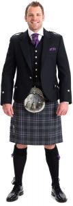 Argyll & 5 Button Waistcoat Hire Outfit