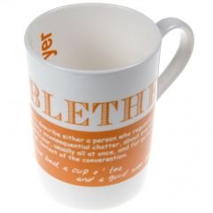 Blether Bone China Mug Barbara Davidson Designs