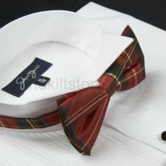 Bow Tie Pre Tied Silk Stewart Royal Ancient