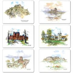 Pack of 6 Scottish Castles Coasters