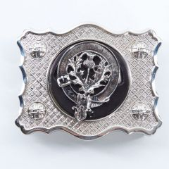 Clan Crest, Chrome Belt Buckle
