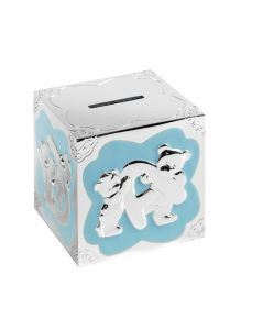 Engravable Teddy Bear Blue Money Box