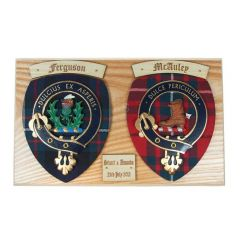Clan Crest Family Plaque, Wedding