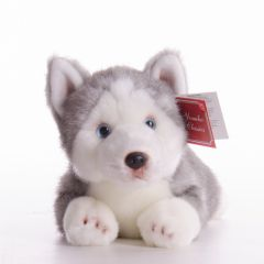 New Suki Yomiko Large Lying 14 inch Plush Husky Dog
