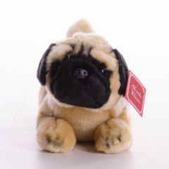New Suki Yomiko Large Lying 14 inch Plush Pug Dog