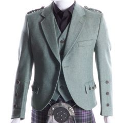 Crail Jacket and Vest in Lovat Green Herringbone fabric, Stunningly