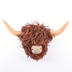 Poorly Highland Cow, Wall Mounted Wooden Sculpture By Voyage Maison