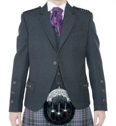 Crail Jacket and Waistcoat in Grey Arrochar Tweed