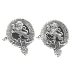 Clan Crest Cufflinks, Lion Rampant