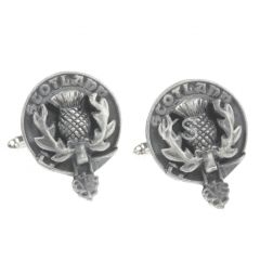 Clan Crest Cufflinks, Scottish Thistle