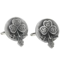 Clan Crest Cufflinks, Shamrock