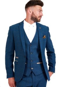 Dion Blue, Tweed Suit Jacket by Marc Darcy
