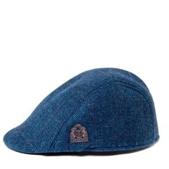 Dion, Blue Tweed Flat Cap