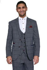 Mens 3 Piece Enzo Suit by Marc Darcy