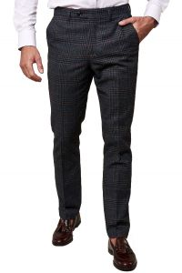 Luca, Navy Tweed Trousers by Marc Darcy