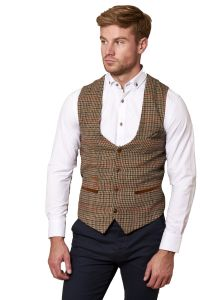 Edward, Olive Green Waistcoat by Marc Darcy